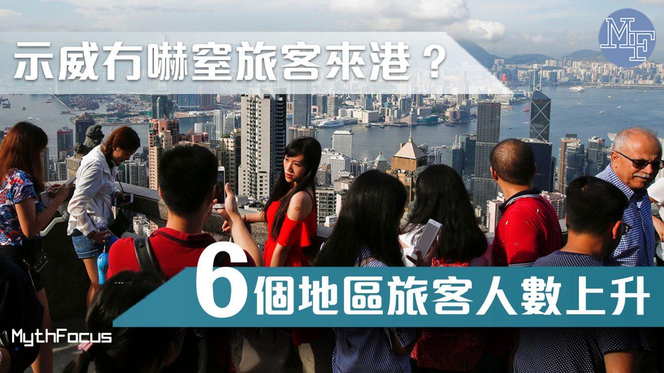 【逃犯條例】整體訪港旅客數目按年下跌4.8%  哪6個地區旅客有增長?