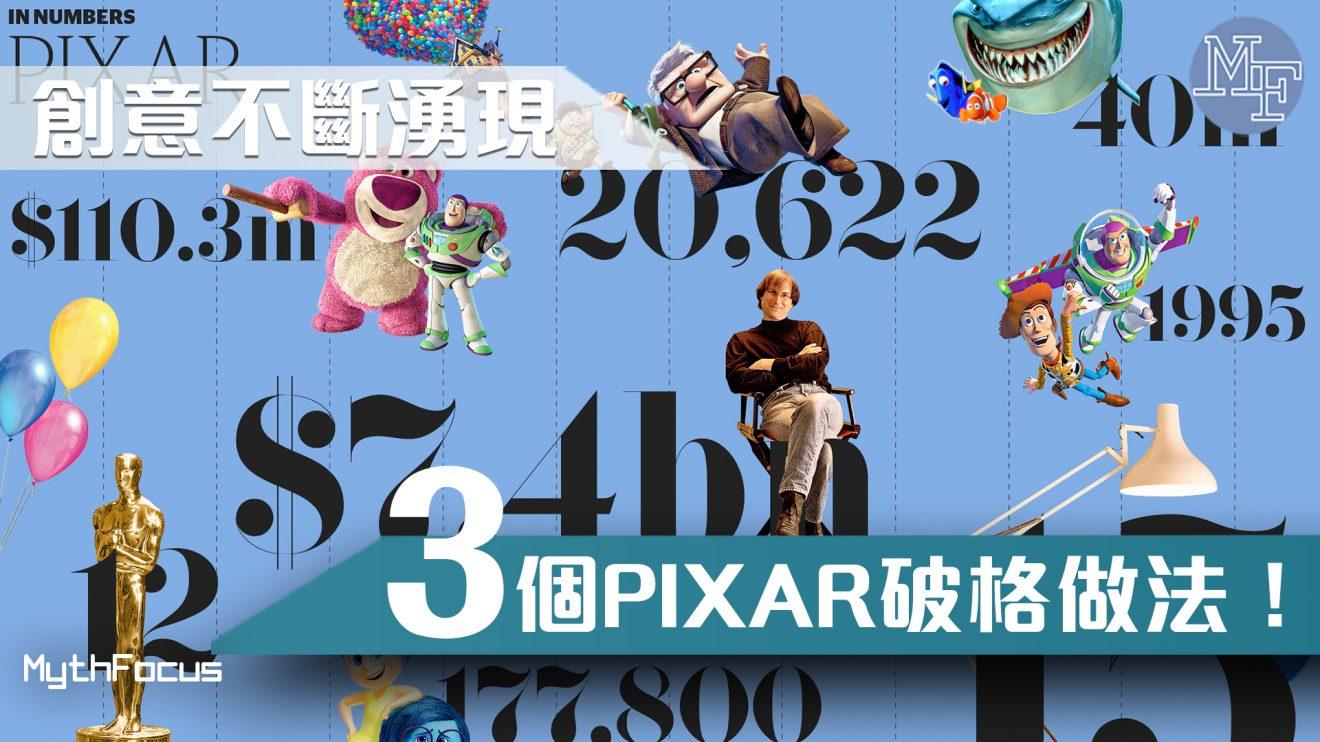 【動畫王國】創意點樣先至會不斷出現?3個Pixar破格做法!