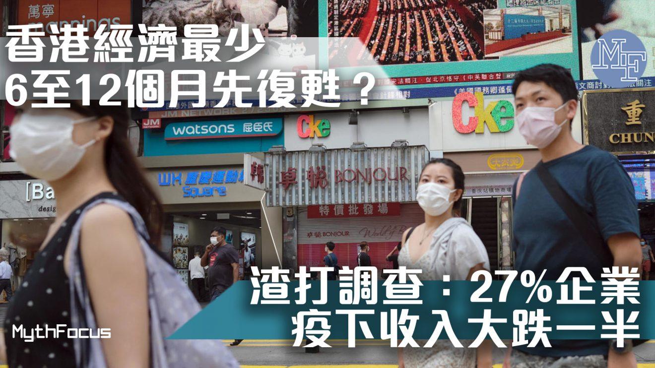 【疫情陰霾】香港經濟需時最少6至12個月先至復甦? 渣打調查:27%企業疫下收入大跌一半