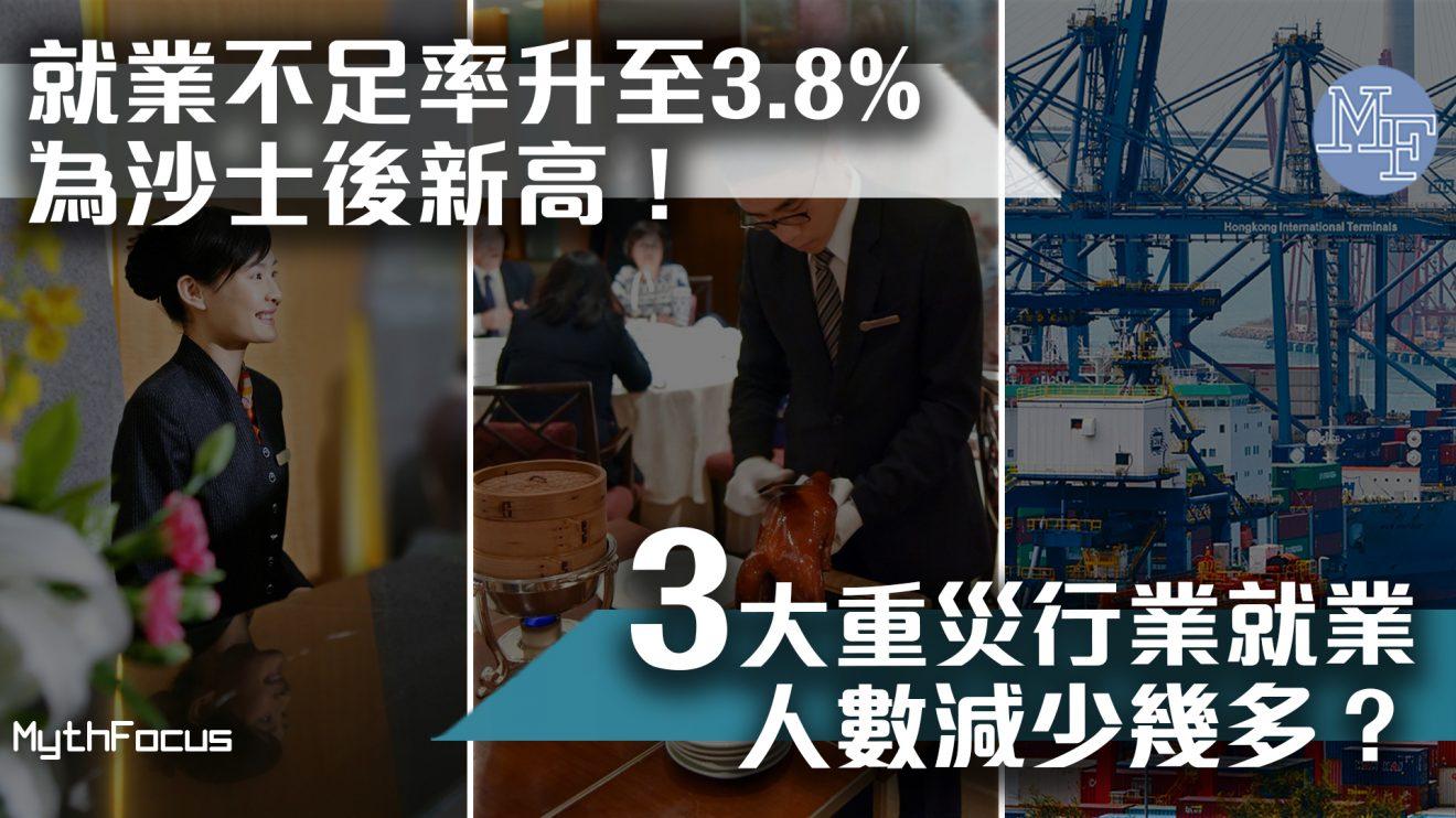 【沙士後高位】本港最新失業人數24.8萬人!3大重災行業就業人數減少幾多?